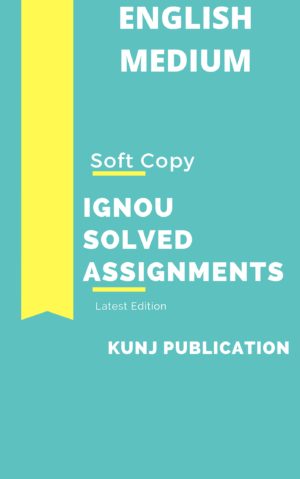IGNOU SOLVED ASSIGNMENT 2020-21 ENGLISH MEDIUM